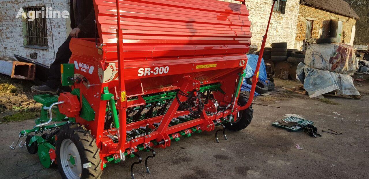 AGRO-MASZ Sivalka zernova 3 m SR300II Garantiya 1 RIK! sembradora mecánica nueva