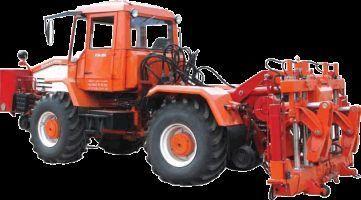 Universalnaya putevaya mashina UPM-1M na baze traktora HTA-200  tractor de ruedas
