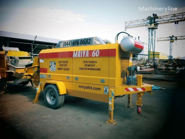 MRIYA MBP 1206D bomba de hormigón estacionaria nueva