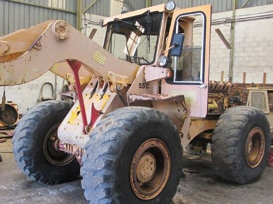 HANOMAG 55C  cargadora de ruedas para piezas