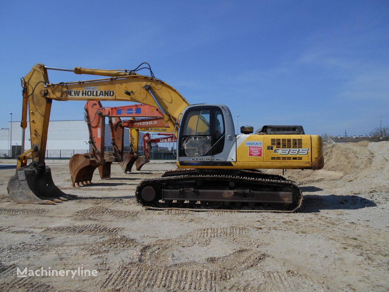 NEW HOLLAND E 385 EL excavadora de cadenas
