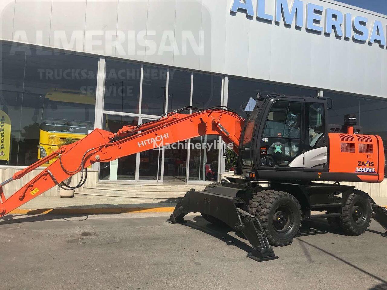 excavadora de ruedas HITACHI ZX 140W-6. EXCAVADORA DE RUEDAS