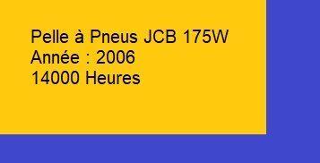 JCB 175W excavadora de ruedas