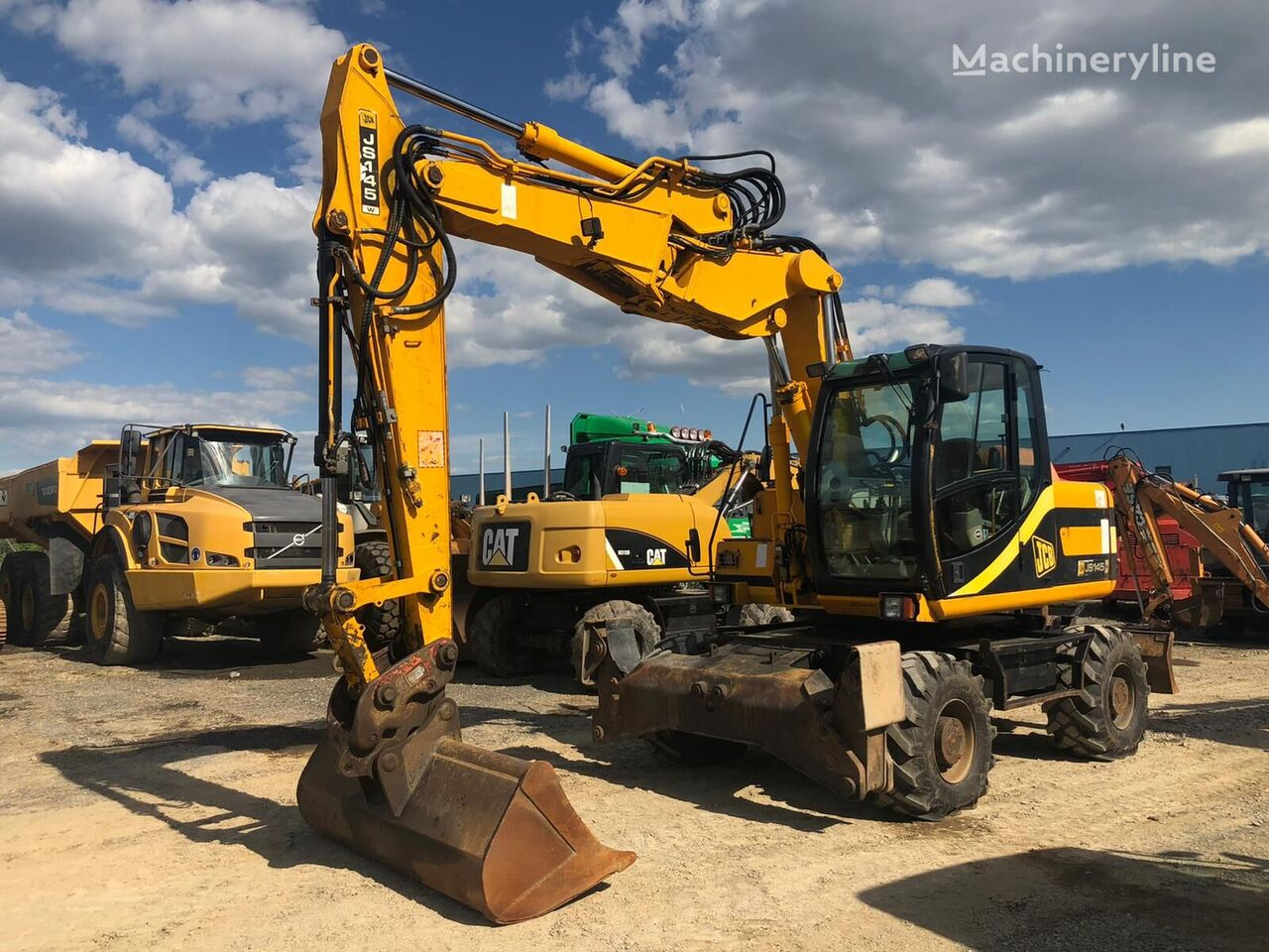 JCB JS 145 W excavadora de ruedas