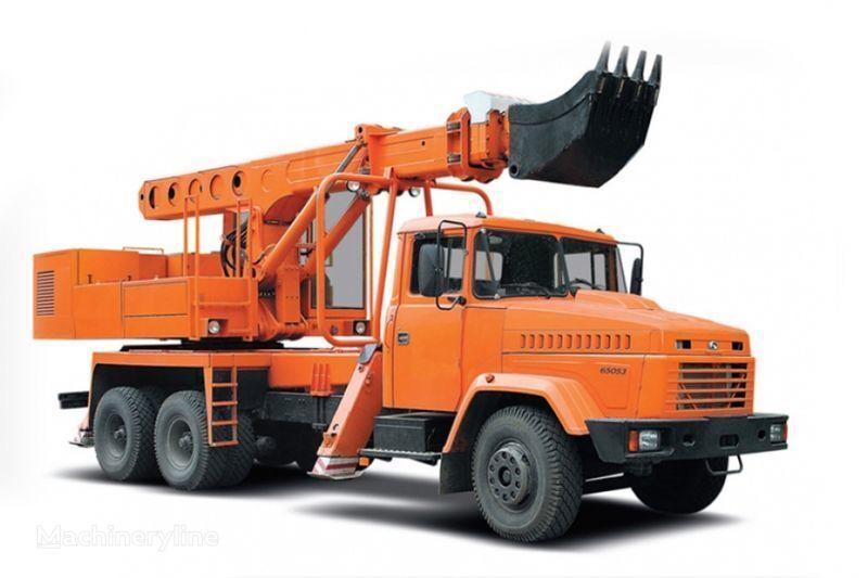 KRAZ 65053 UDS-114R Avtoekskavator-planirovshchik  excavadora telescópica