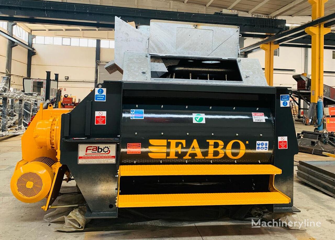 FABO TWS 02 TWINSHAFT MIXER FOR READYMIXTURE | HIGH CAPACITY hormigonera nueva