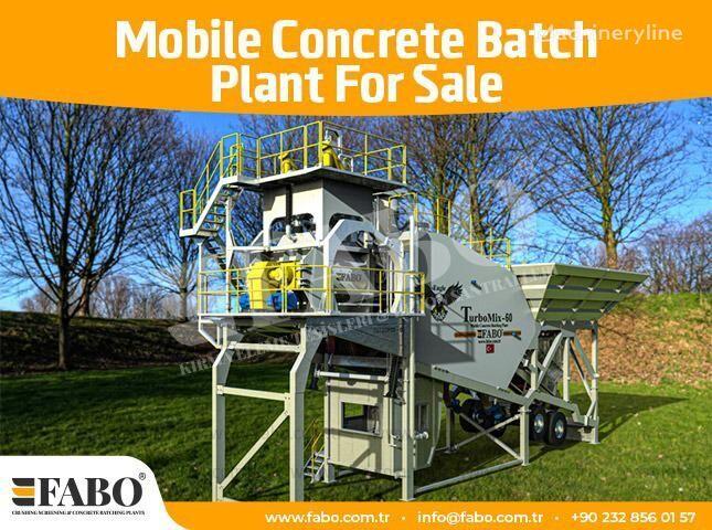 FABO 60m3/h NEW GENERATION MOBILE CONCRETE PLANT planta de hormigón nueva