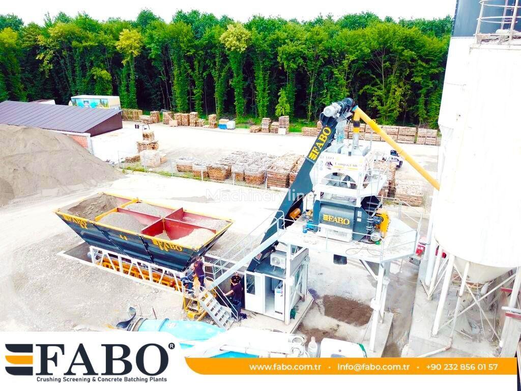 FABO COMPACT-60 CONCRETE  PLANT | NEW PROJECT planta de hormigón nueva