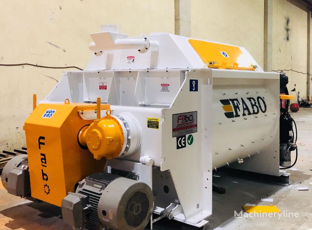 FABO TWS 02 TWINSHAFT MIXER FOR READYMIXTURE   HIGH CAPACITY planta de hormigón nueva