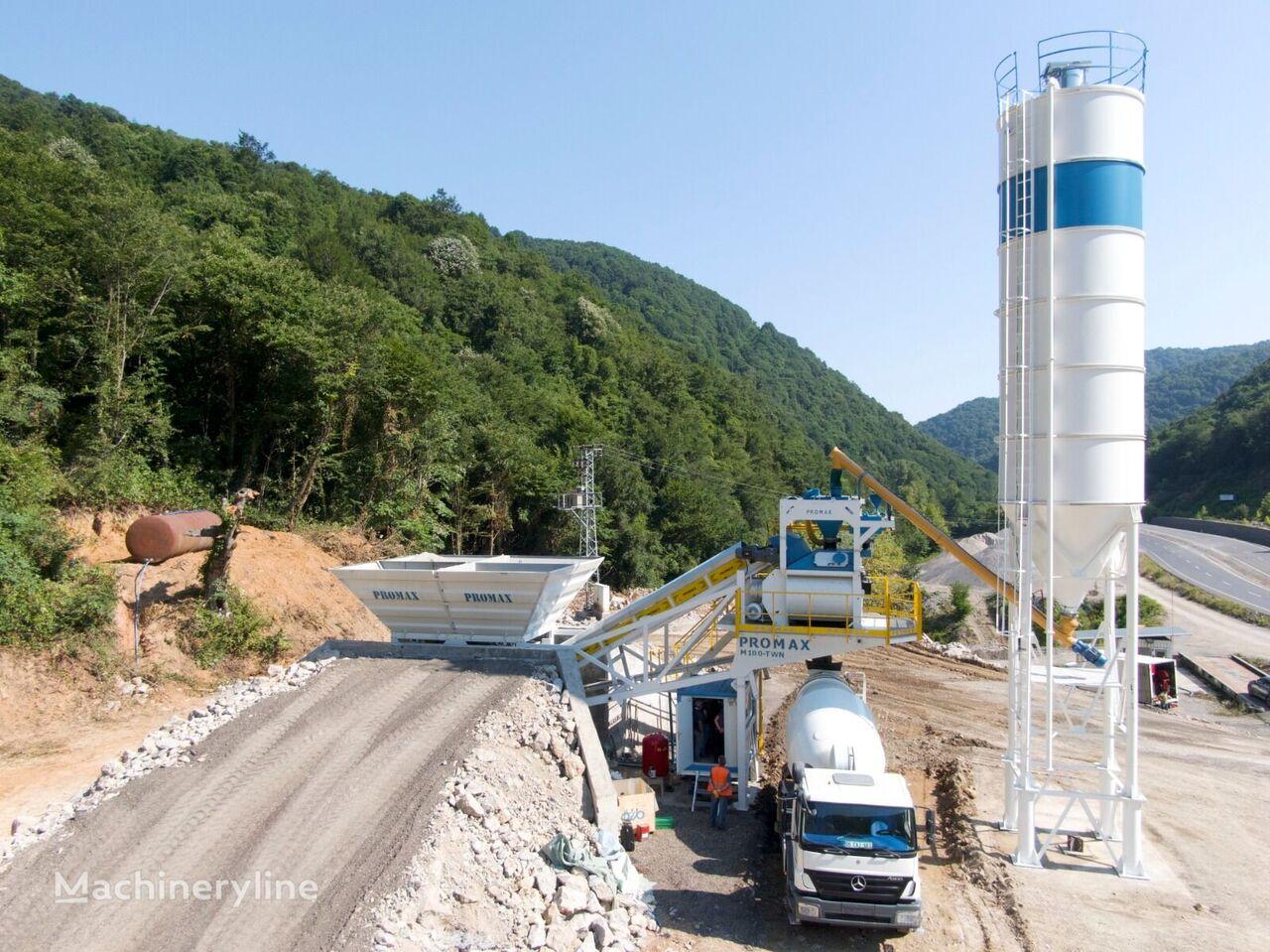 PROMAX Planta de Hormigón Móvil M100-TWN (100m³/h) planta de hormigón nueva
