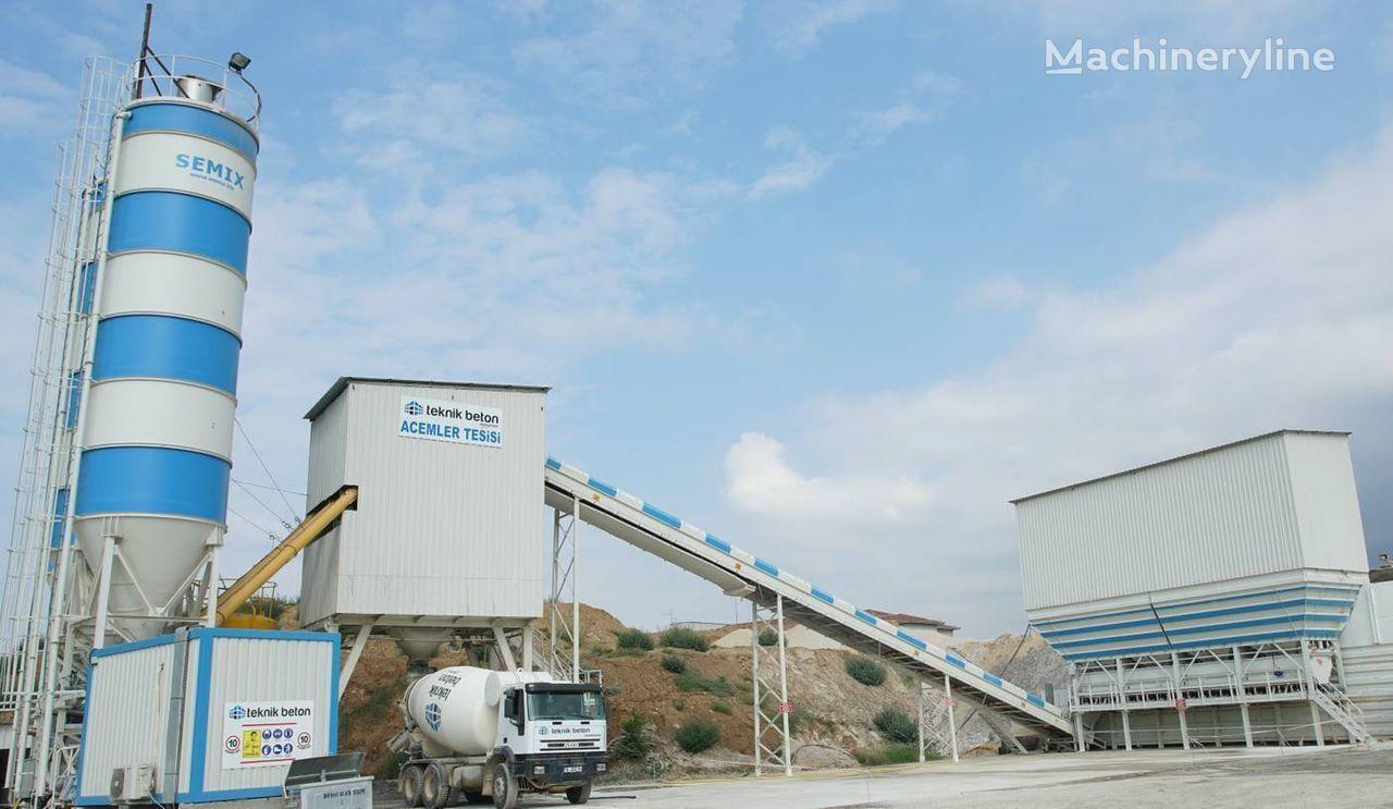 SEMIX Stacionarna Betonara 160  STACIONARNE BETONARE 160m³/sat planta de hormigón nueva