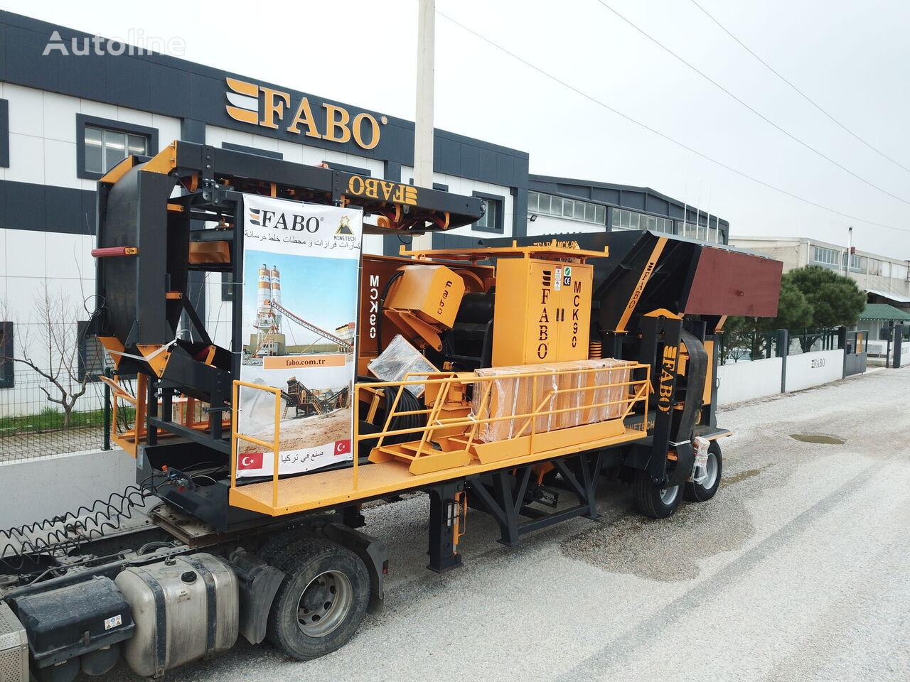 FABO MCK-90 MOBILE CRUSHING & SCREENING PLANT FOR BASALT planta trituradora móvil nueva