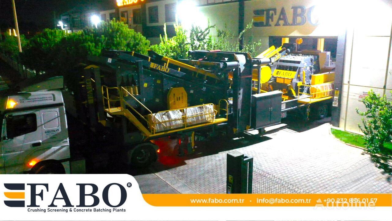FABO MDMK-03 SERIES 300 TPH MOBILE CRUSHING & SCREENING PLANT planta trituradora móvil nueva