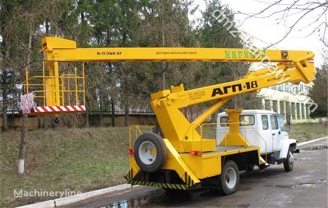 GAZ Avtogidropodemnik AGP-18 (Avtovyshka) plataforma sobre camión