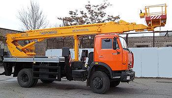 KAMAZ AP-28 plataforma sobre camión