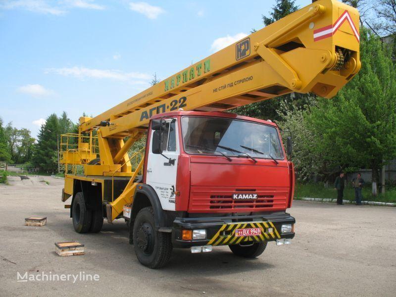 KAMAZ Avtogidropodemnik AGP-22 (Avtovyshka) plataforma sobre camión