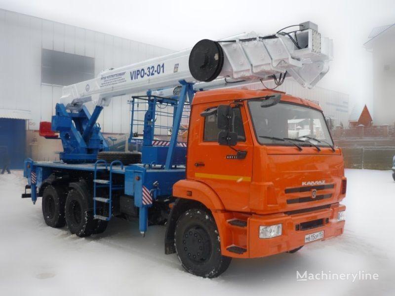 KAMAZ VIPO-32  plataforma sobre camión