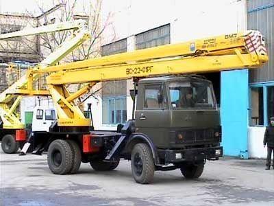 KAMAZ VS—22-01  plataforma sobre camión