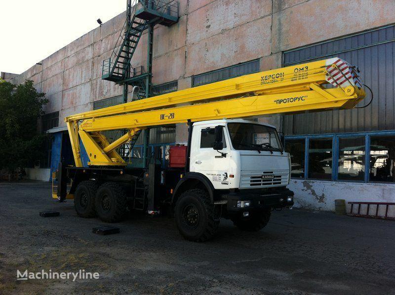 KAMAZ VS—28  plataforma sobre camión