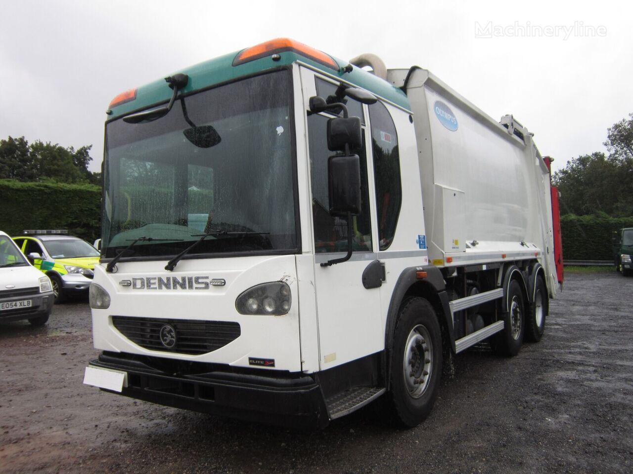 Dennis ELITE 2 6X2 24TON AUTO REAR STEER OLYMPUS BODY REFUSE C/W BIN LI camión de basura