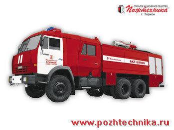 KAMAZ AKT-6/1000-80/20 Avtomobil kombinirovannogo tusheniya   camión de bomberos