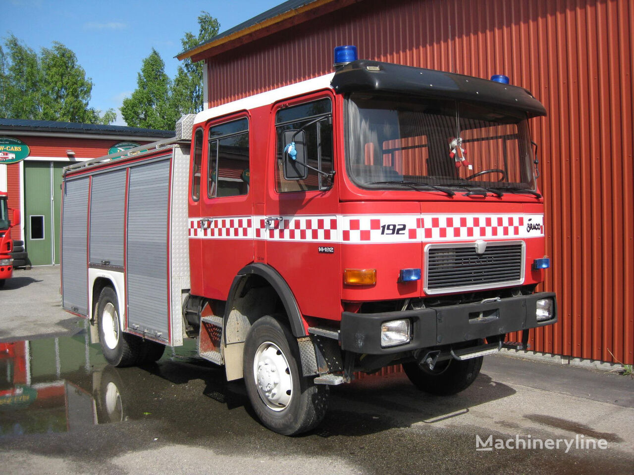 MAN 14-192, 4x4 WD camión de bomberos