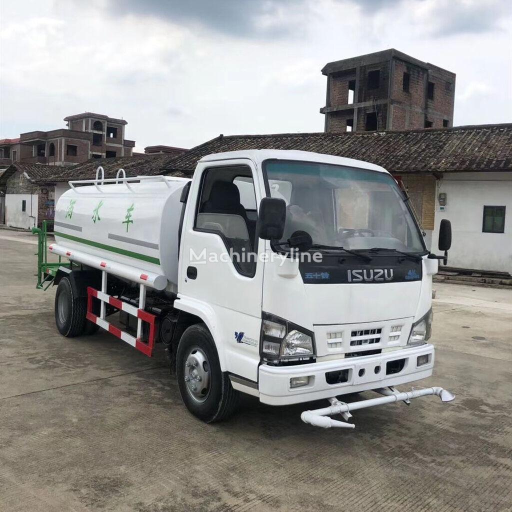 ISUZU 4K engine, 7 Cubic meters,thickened tank camión rociador de agua