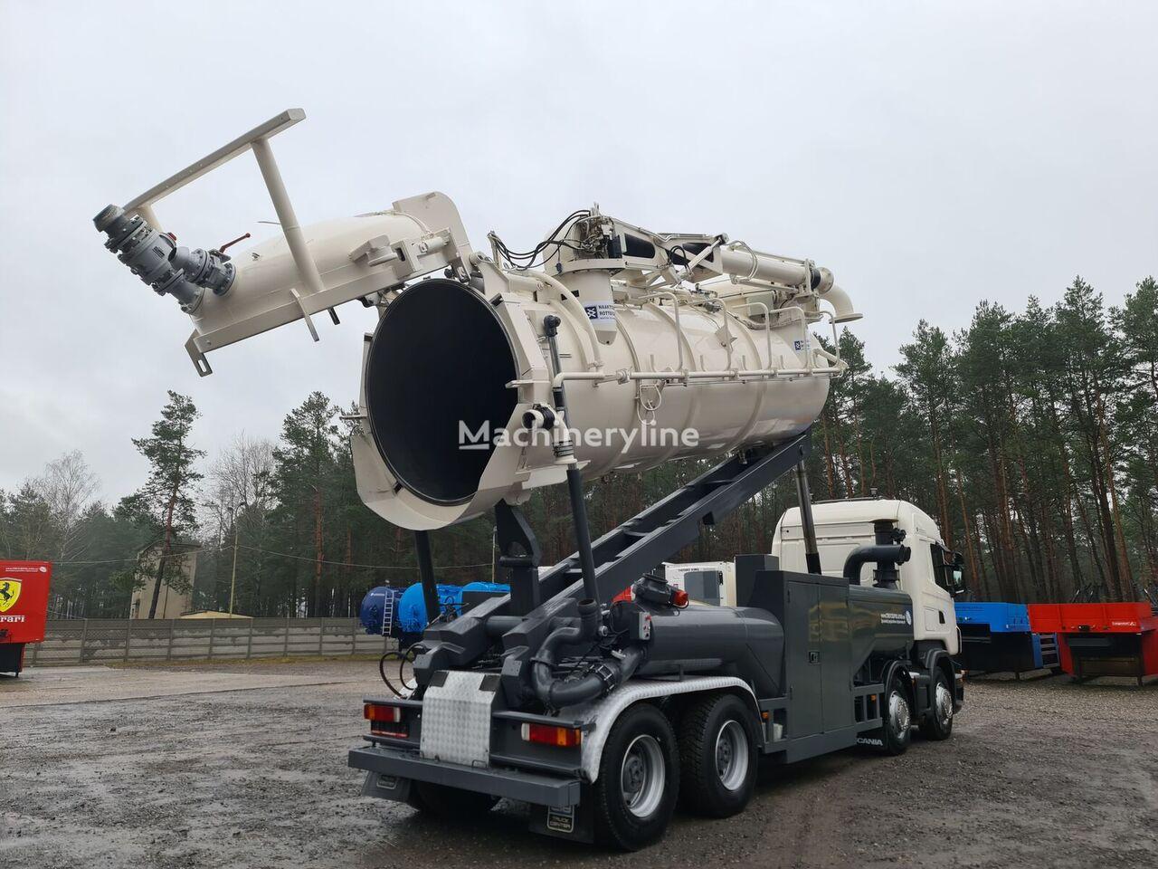 SCANIA Vacuum Naaktgeboren Vacu-press 8000 Hi-Lift sucking blowing ( Ko combinado para limpieza de alcantarillado