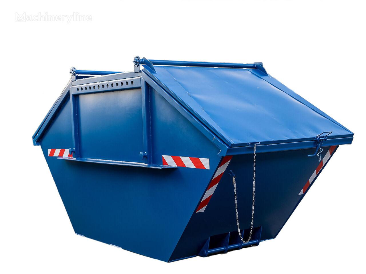 Absetzmulde Absetzcontainer Mulde Container 10cbm Stahldeckel contenedor de obra nuevo