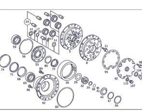 Cubo Reductor Mercedes-Benz Actros 4-Ejes 6-Cil. Serie/BM 4143 llanta de camión