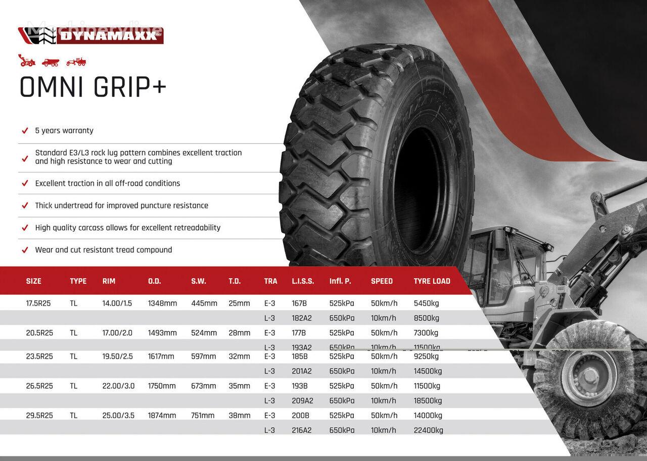 DYNAMAXX 17.5R25 OmniGrip+ E3/L3 neumático para cargadora de rueda nuevo