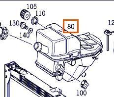 Deposito Expansion Mercedes-Benz ACTROS 2535 L (A 000 500 30 49) amortiguador de gas para MERCEDES-BENZ ACTROS 2535 L camión