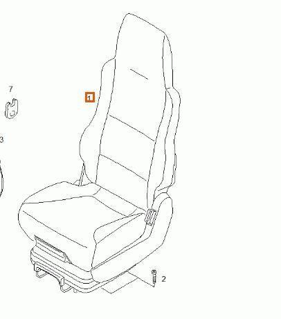 Asiento Delantero Derecho MAN TGA 18.410 FK, FK-L, FLK, FLRK (81623076154) asiento para MAN TGA 18.410 FK, FK-L, FLK, FLRK tractora