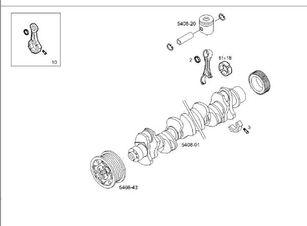 Biela Iveco Stralis AS 440S48 (504028545) biela para IVECO Stralis AS 440S48 camión