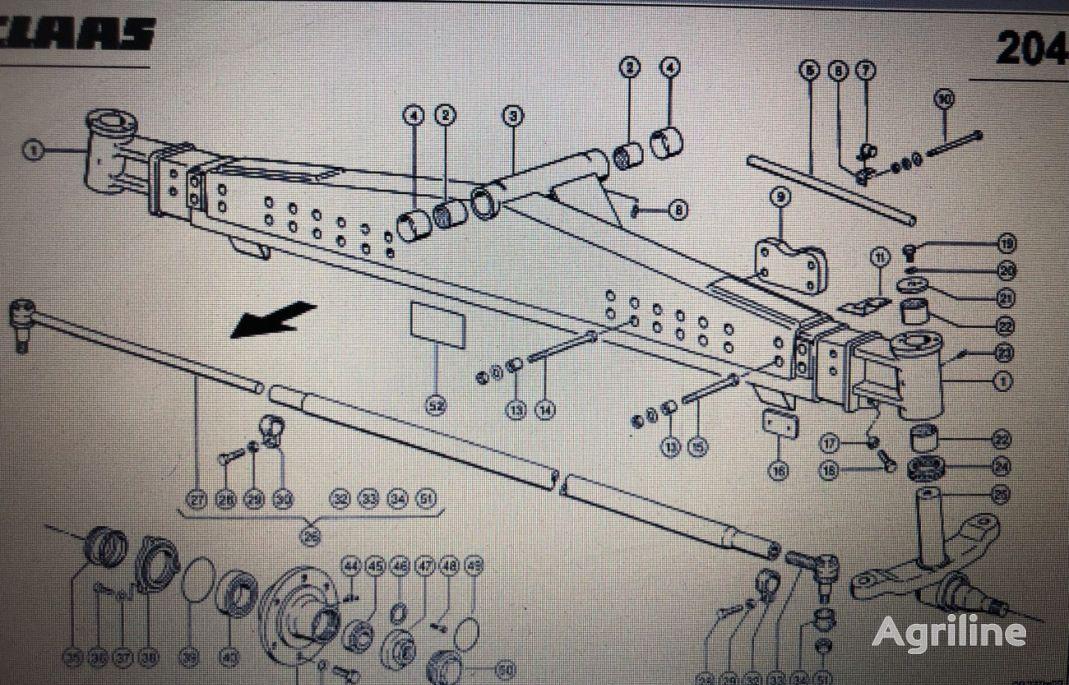 (000 769 603 0) buje de rueda para CLAAS Mega 370-340 cosechadora de cereales