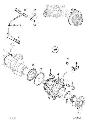 Buje DAF Serie XF105.XXX Fg 4x2 [12,9 Ltr. - 340 kW Diesel] (1812161) buje de rueda para DAF Serie XF105.XXX Fg 4x2 [12,9 Ltr. - 340 kW Diesel] tractora