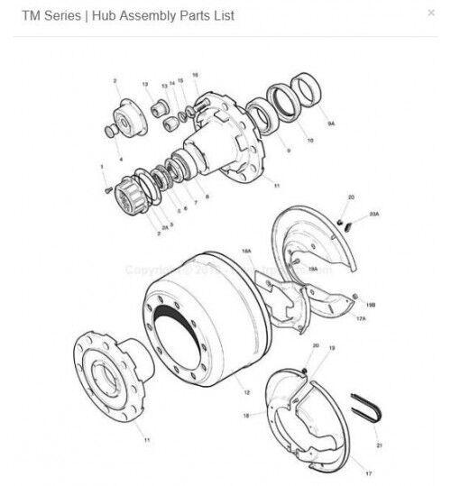 ROR (14205190) buje de rueda para semirremolque
