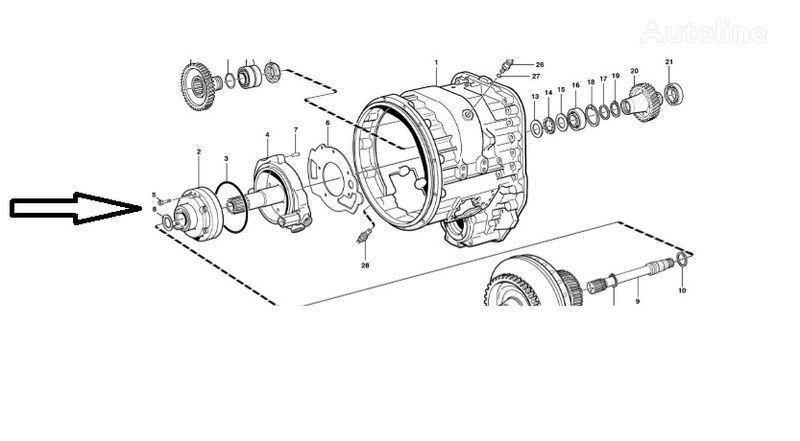 VOLVO Pompa VOE11145264 caja de cambio para VOLVO  L180E cargadora de ruedas nueva