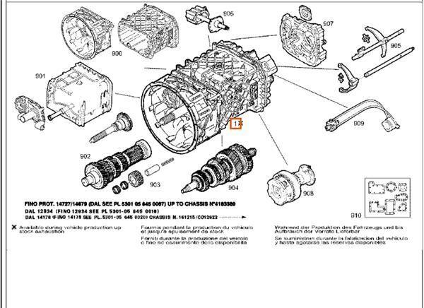 caja de cambios para tractora IVECO EuroTech (MP) FSA (440 E 38) [9,5 Ltr. - 276 kW Diesel]