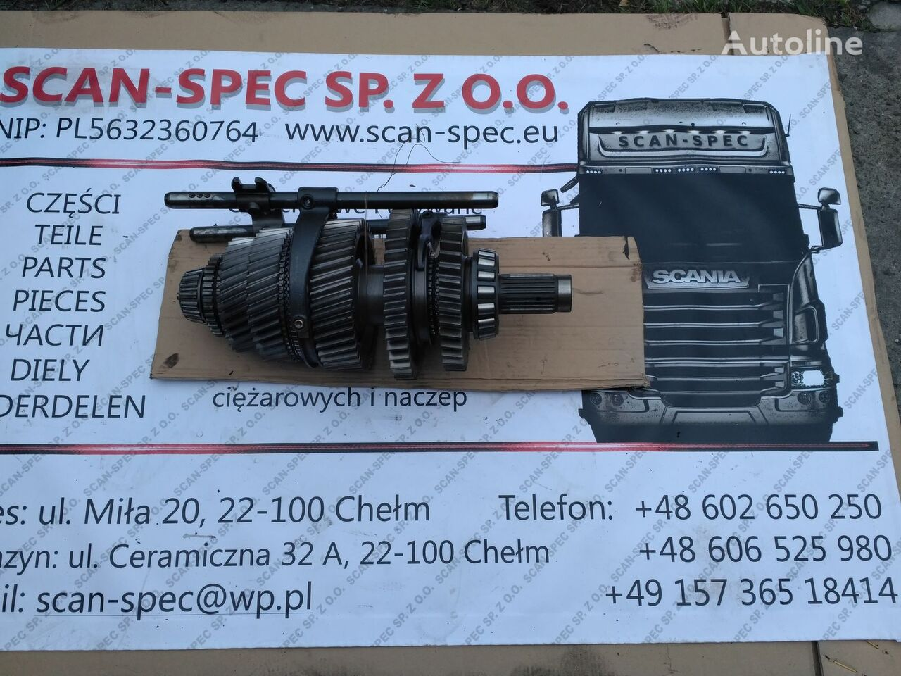 SCANIA Wałek wałek główny GR905/R (1476196) caja de cambios para SCANIA P R G T tractora