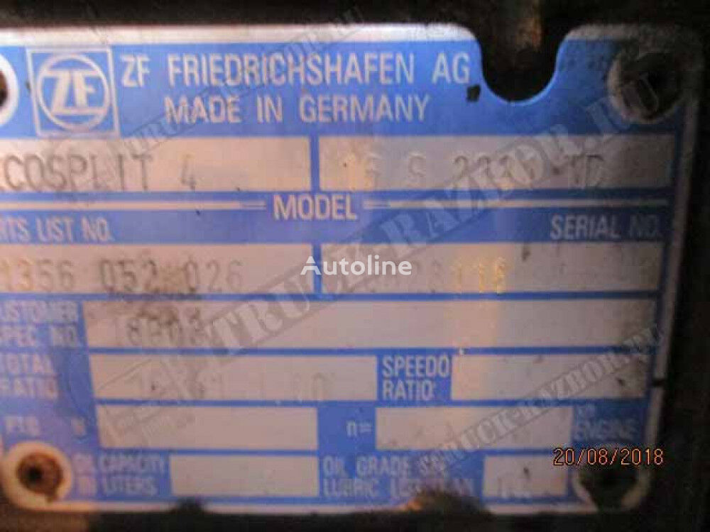 ZF 16S 2331 TD caja de cambios para DAF tractora