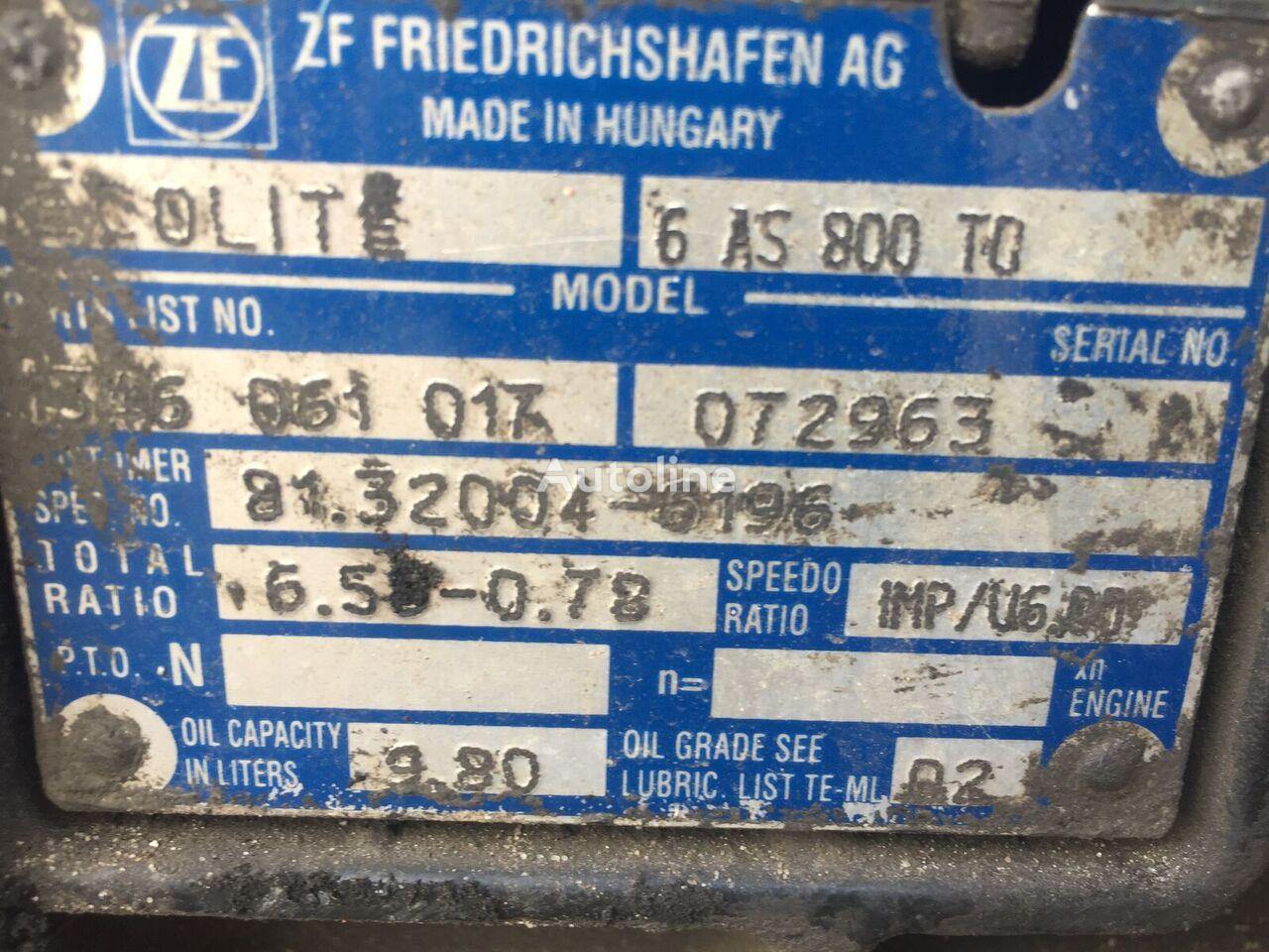 ZF Ecolite 6AS800TO caja de cambios para tractora