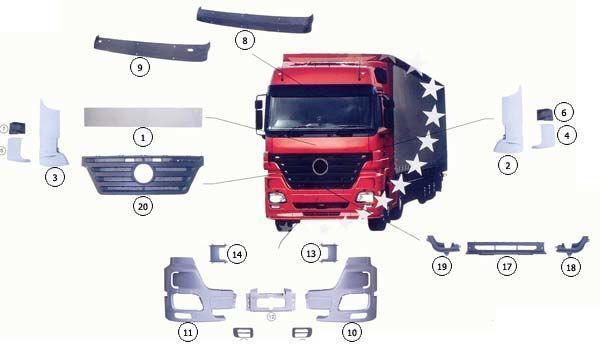 9437500518 capó para MERCEDES-BENZ ACTROS MP2 camión nuevo