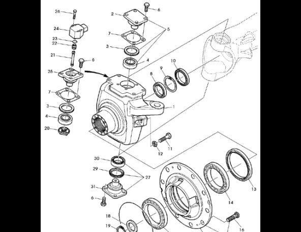 JOHN DEERE Łożysko wałeczkowe skośne AL175775 cojinete para JOHN DEERE 7530 Premium tractor