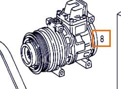 Compresor Aire Acond Mercedes-Benz ATEGO 923,923 L (A 000 234 08 11) compresor de aire acondicionado para MERCEDES-BENZ ATEGO 923,923 L camión