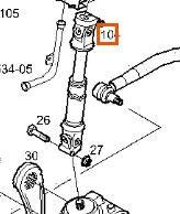 Columna Direccion Iveco Stralis AS 440S48 (504007393) cremallera de dirección para IVECO Stralis AS 440S48 tractora