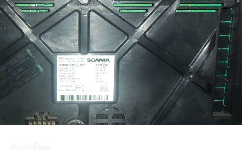 Scania R series instrument panel, instrument cluster, dashboard, 1725842 instrument cluster, 1507322, 1545985, 1545989, 1545993, 1763551, 1765222, 1849503, 1852891 cuadro de instrumentos para SCANIA R tractora