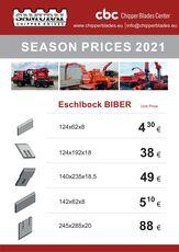 Eschlböck Biber ESCHLBOCK BIBER 7; 8; 78; 80 ; 84 ; 92 cuchillo para ESCHELBOK BIBER biotrituradora nuevo