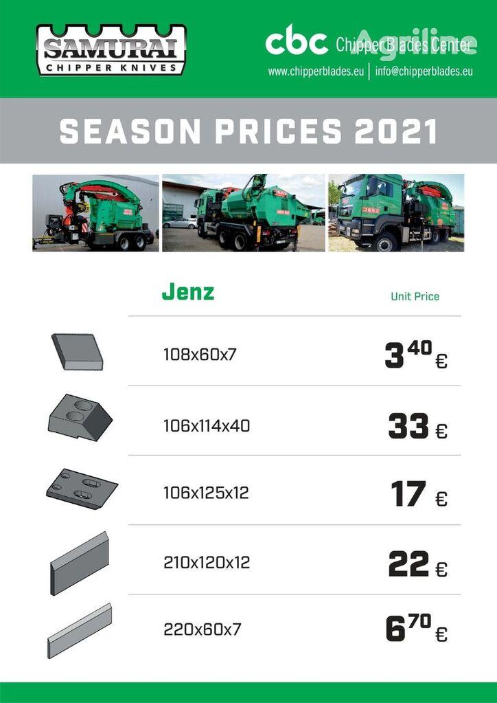 JENZ HM cuchillo para JENZ HEM 560; HEM561; HEN 582; HEM 820; HEM593 biotrituradora nuevo
