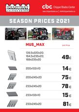 Mus Max terminator 7; 8; 9 ; 10 ; 11; 12 cuchillo para Mus Max MUS-MAX TERMINATOR  7; 8; 9; 10 ; 11; 12  biotrituradora nuevo